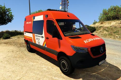2019 Mercedes Sprinter VS30 Ambulancia Bombers Andorra