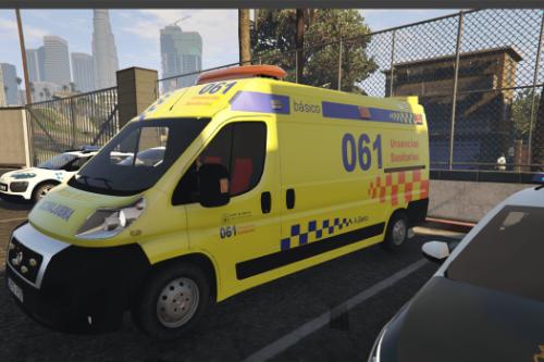 Ambulancia Fiat Ducato 061 Galicia.