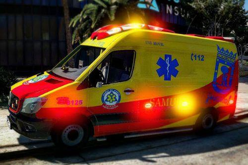 Ambulancia Mercedes Sprinter SAMUR Madrid [ELS | REPLACE | REAL LEDS]