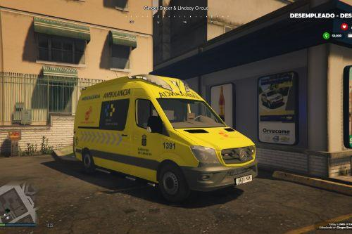 🇮🇨 Ambulancia (SVA) Medicalizada Lanzarote Servicio Urgencias Canario SUC 2014 Mercedes Sprinter W906