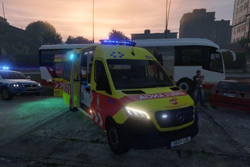 🇮🇨 Ambulancia SVB Servicio Urgencias Canario SUC 2019 Mercedes Sprinter VS30 [no-els/els/replace]