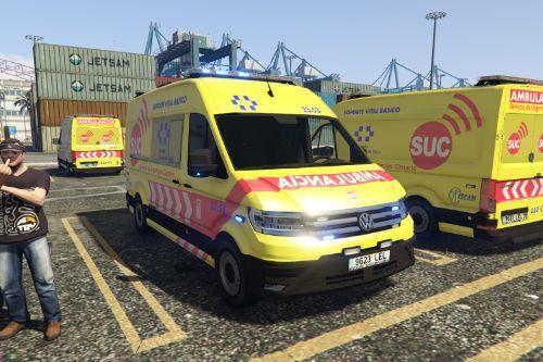 🇮🇨 Ambulancia SVB Servicio Urgencias Canario SUC 2017 VW Crafter II [Typ 7C0]