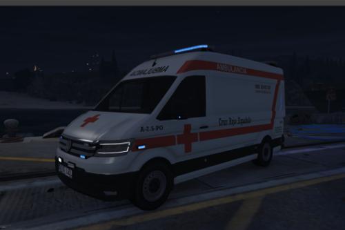 Ambulancia Volkswagen Crafter Cruz Roja Española.