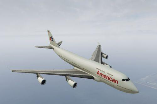 American Airlines and United Airlines texture for Boeing 747-100