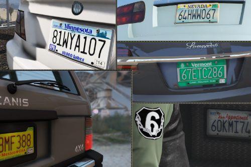 American Roadtrip: License Plates Pack