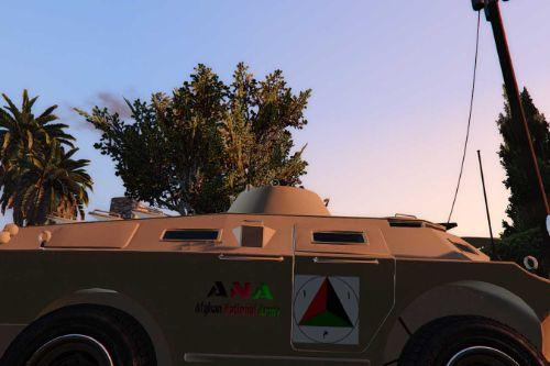 ANA Afghan National Army APC with Dessert Texture