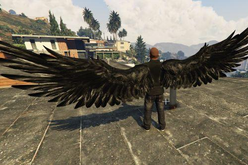 Angel Wings Retexture - Realistic Wings - BLACK