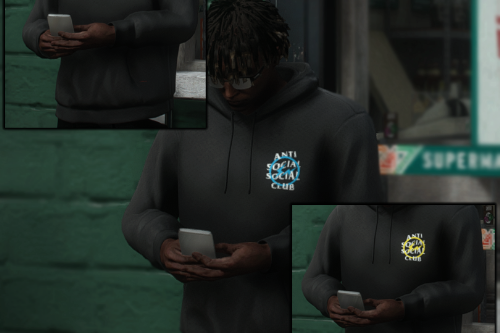 Anti Social Club x Fragment Pullover Hoodie Pack [MP Male]