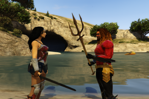 Aquaman And Wonder Woman FlashPoint  (Retexture)