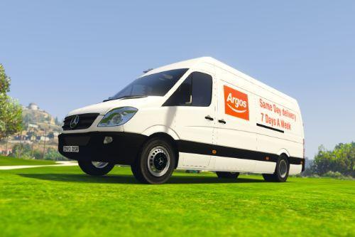 Argos Delivery UK Sprinter Van Skin
