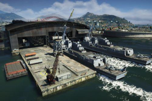 891da3 gta v   arleigh burke class destroyers at merryweather base 3