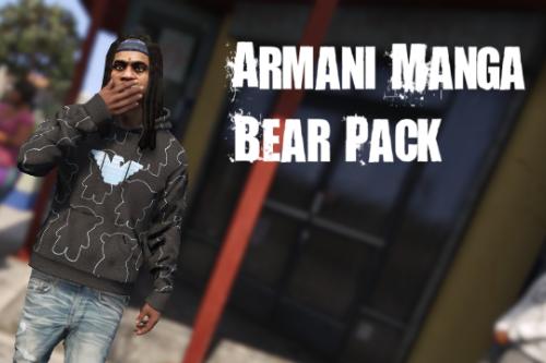 Armani Manga Bear All over Hoodie/Shirt