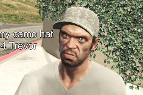 Army Camo Hat for Trevor