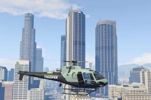 AS-350 Ecureuil SAST Livery (San Andreas State Trooper)