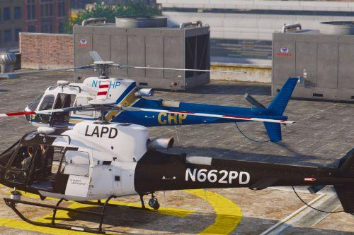 AS-350 Ecureuil (LAPD & CHP) [Add-On / Replace | Livery]