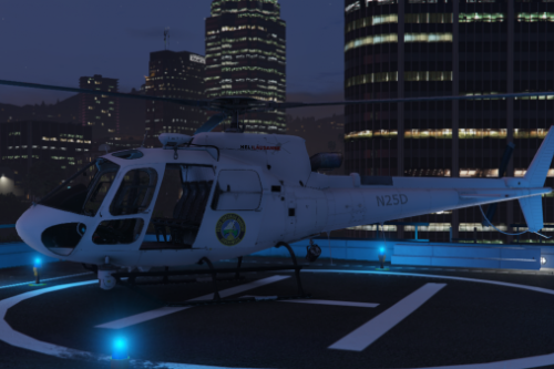 Real / Vrai Helicopter / Hélicoptère Gendarmerie Vaudoise Swiss / Suisse AS-350 Skin