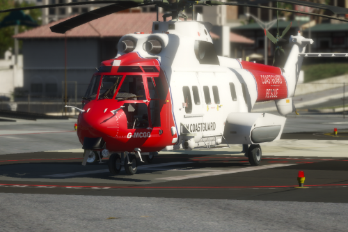 AS332 Super Puma - HM Coastguard Reskin (UK)
