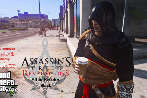 Assassin's Creed Revelations Altaïr outfit recolor to Black
