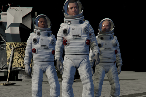 Astronaut suits for the protagonists