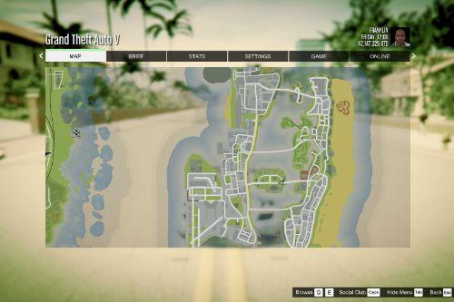 Atlas / GTA 5 Style Map with Radar for Vice Cry and Vice City Overhaul