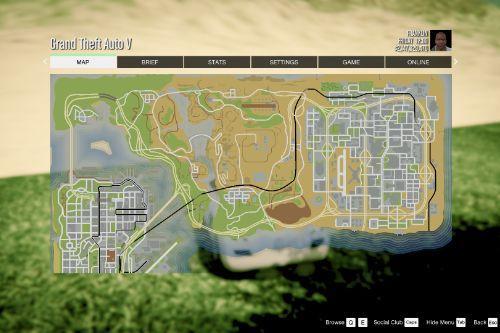 Atlas / GTA 5 Style Map with Radar for Las Venturas & San Fierro