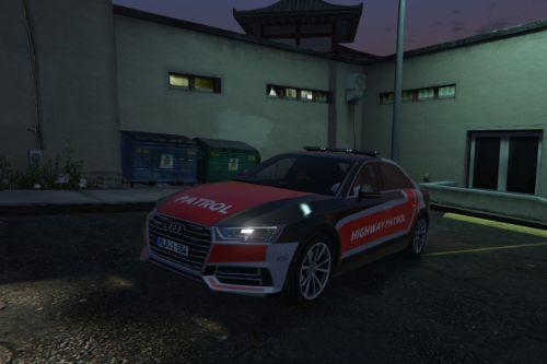 Audi A4 Police Car livery - Highway Patrol [Paintjob]