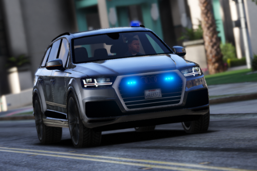Audi Q7 Police / Politie Unmarked [ELS | Replace] [US plates | Dutch plates | No plates]