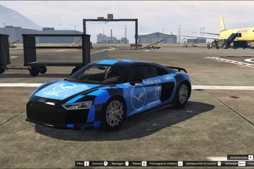Audi R8 V10+ livery - Lufthansa employer, personal paintjob - german