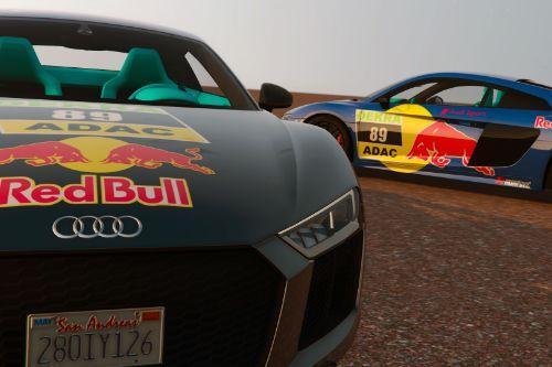 Red Bull Paintjob for Audi R8 V10 Plus 2017