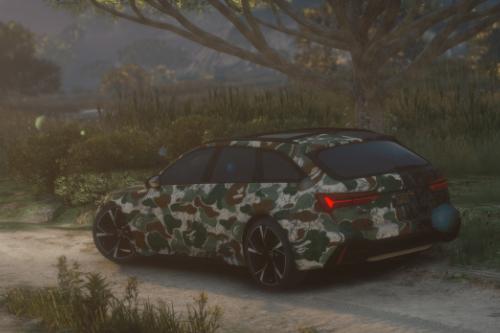 Audi RS6 C8 Avant Green Camo Bape Livery