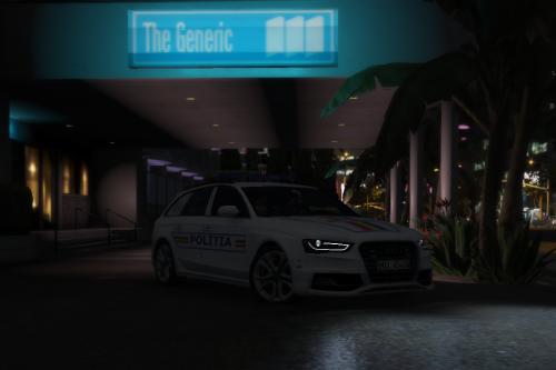 Audi S4 Estate Romanian Politia