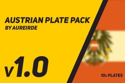 Austrian Plate Pack