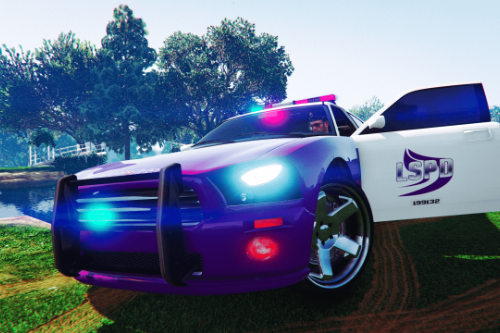 Awesome Purple Charger Nogales Police - LSPD