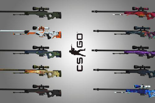 AWP from CS:GO [Animated + 9 Textures]