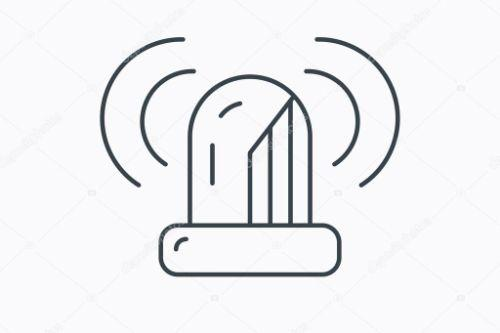 602322 depositphotos 80132568 stockillustratie sirene alarmicoon waarschuwing knipperend licht