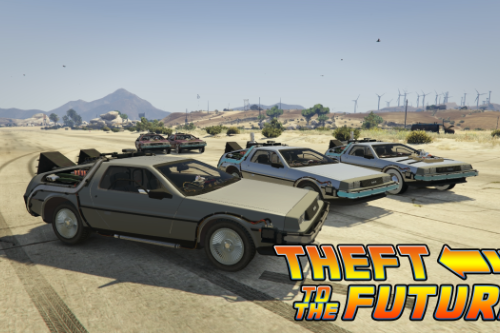 Back To The Future - Delorean Time Machine (3 Car Pack)