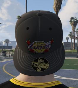 Backwards Los Angeles Lakers Floral Cap