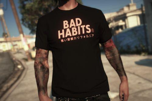 Bad Habits T-shirt Texture for MP Male