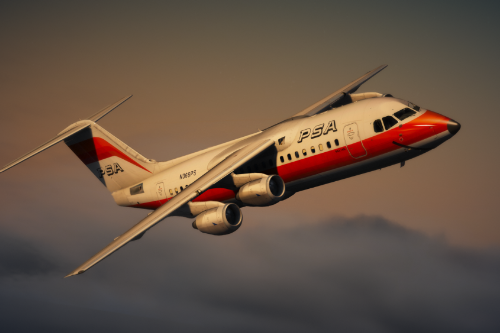 BAe 146 AVRO RJ package (RJ70, RJ85, RJ100) [Add-On | Tuning I Liveries]