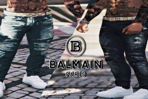 Balmain Jeans With Designer Belt MP Male