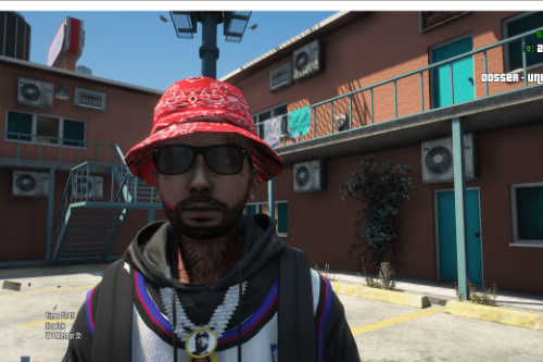 bandana bucket hat for SP/FIVEM