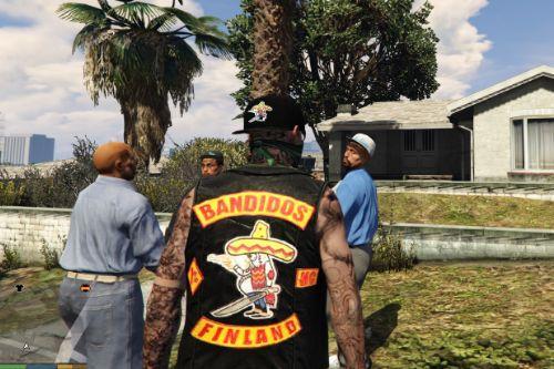 Bandidos Biker Vest & Cap for Trevor [+F]