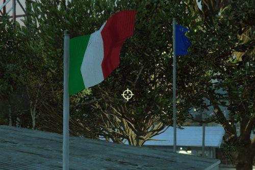 Italian and EU Flags (Bandiera Italiana ed Europea)
