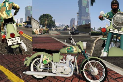Bangladesh Army Bullet Bike Royal Enfield [Skin]