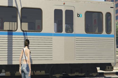 BART train textures for LA Subway mod