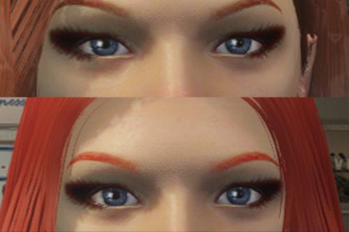 Short Eyebrow for MP Female