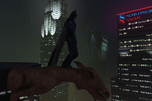 Batman goat statue