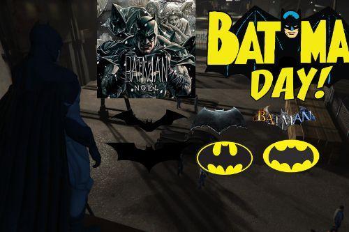 Batman Noel W/Cloth Happy Batman Day!!!BruceWanyeInclode [Add-On Ped].