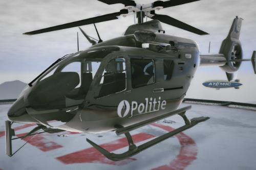 Belgian helicopter skin for EC-135