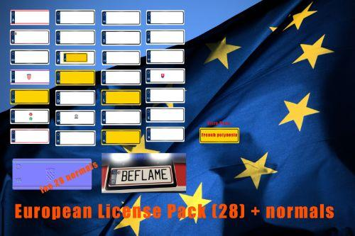 European Licence Plates Pack & Normals